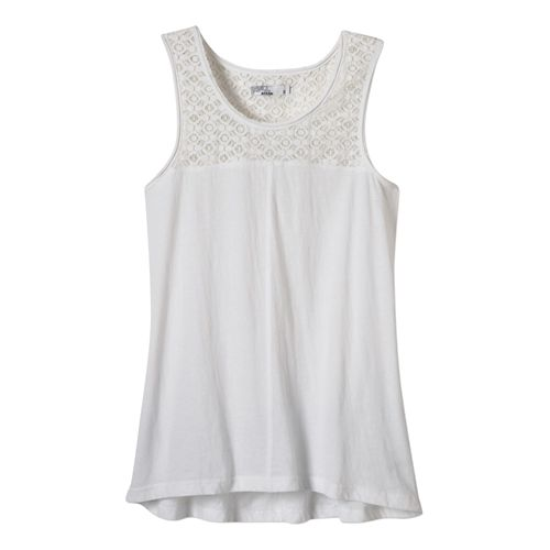 Womens Prana Cassi Tank Non-Technical Tops - White L