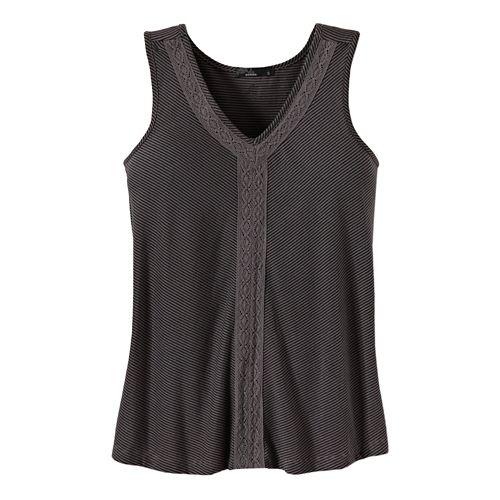 Womens Prana Alecia Tank Sleeveless Non-Technical Tops - Gravel M