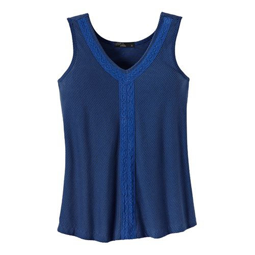 Womens Prana Alecia Tank Sleeveless Non-Technical Tops - Blue Jay XL