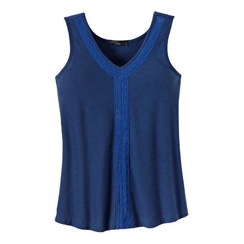 Womens Prana Alecia Tank Sleeveless Non-Technical Tops - Blue Jay XS