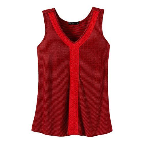 Womens Prana Alecia Tank Sleeveless Non-Technical Tops - Cherry Pop XS