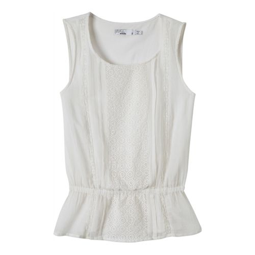 Womens Prana Lizzy Top Sleeveless Non-Technical Tops - White L