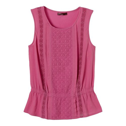 Womens Prana Lizzy Top Sleeveless Non-Technical Tops - Dahlia XL