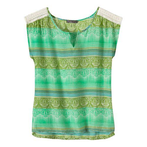 Womens Prana Illiana Short Sleeve Non-Technical Tops - Moonrock L