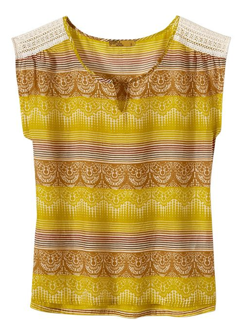 Womens Prana Illiana Short Sleeve Non-Technical Tops - Citronette S