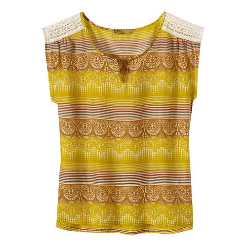 Womens Prana Illiana Short Sleeve Non-Technical Tops - Citronette XS