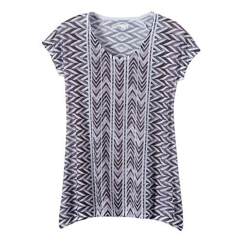 Womens Prana Danni Short Sleeve Non-Technical Tops - Black L