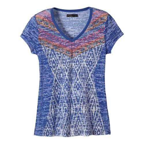 Womens Prana Cusco Tee Short Sleeve Non-Technical Tops - Sail Blue XL