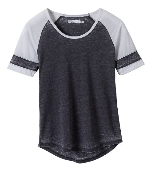 Womens Prana Cleo Tee Short Sleeve Non-Technical Tops - Coal M