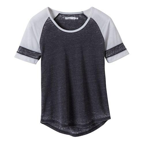 Womens Prana Cleo Tee Short Sleeve Non-Technical Tops - Coal XL