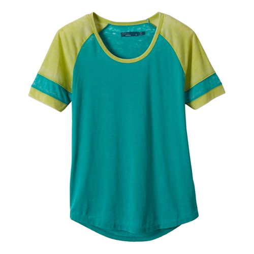Womens Prana Cleo Tee Short Sleeve Non-Technical Tops - Dynasty Green XL