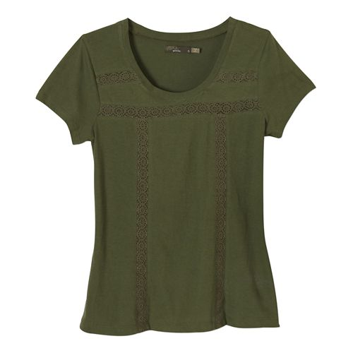 Womens Prana Tisha Short Sleeve Non-Technical Tops - Ponderosa XL