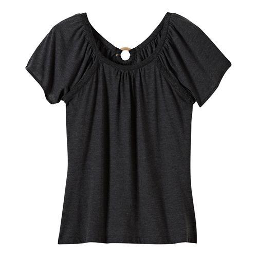 Womens Prana Kiki Short Sleeve Non-Technical Tops - White XL