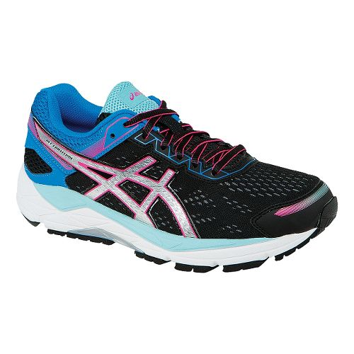 Womens ASICS GEL-Fortitude 7 Running Shoe - Black/Blue 10.5