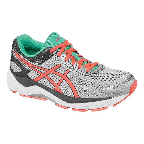 Womens ASICS GEL-Fortitude 7 Running Shoe - Silver/Coral 12.5