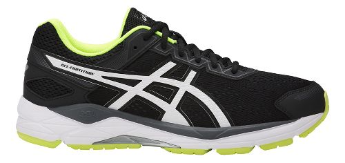Mens ASICS GEL-Fortitude 7 Running Shoe - Black/White 12