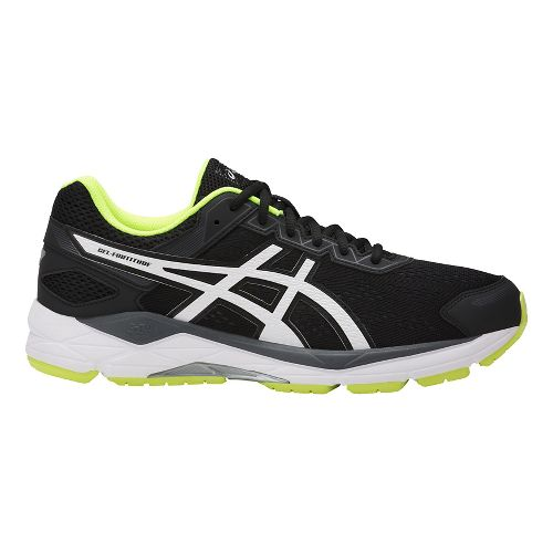 Mens ASICS GEL-Fortitude 7 Running Shoe - Black/White 8