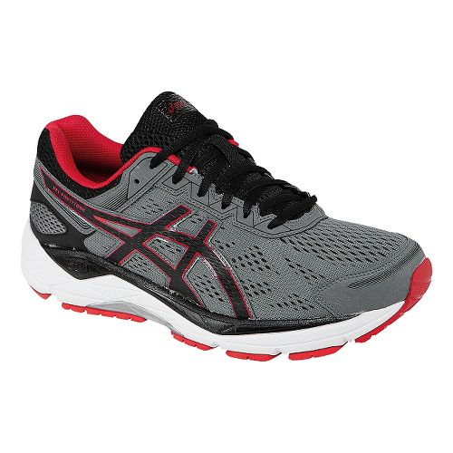 Mens ASICS GEL-Fortitude 7 Running Shoe - Grey/Red 7