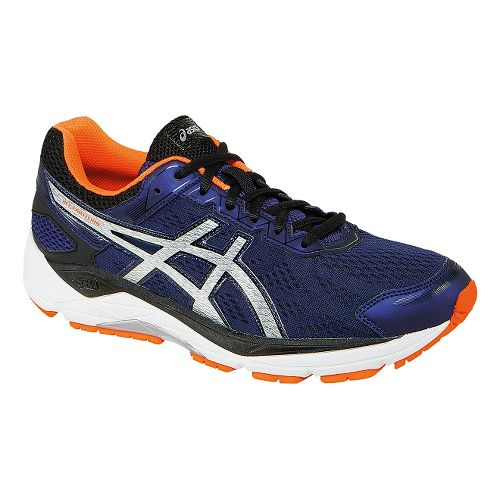 Mens ASICS GEL-Fortitude 7 Running Shoe - Indigo/Orange 12.5