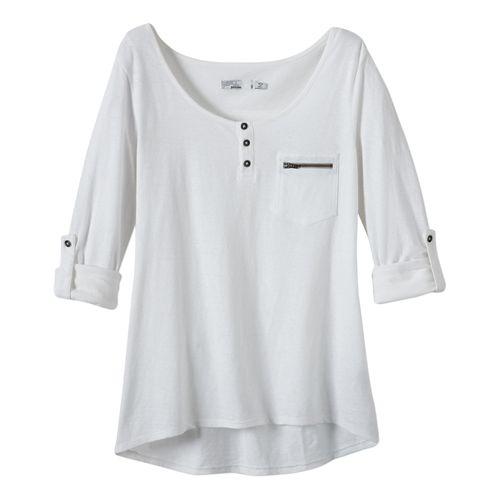 Womens Prana Jess Short Sleeve Non-Technical Tops - White XS