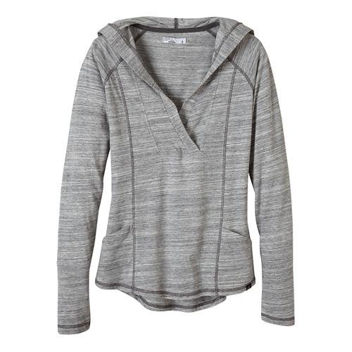 Womens Prana Demi Long Sleeve Hooded Non-Technical Tops - Coal XL