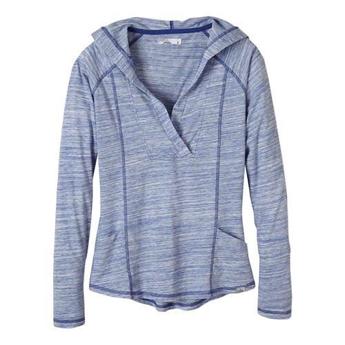 Womens Prana Demi Long Sleeve Hooded Non-Technical Tops - Blue Jay XS