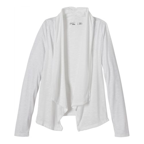 Womens Prana Blakely Wrap Long Sleeve Sweater Non-Technical Tops - White XS