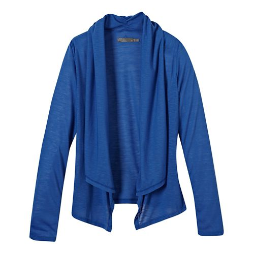 Womens Prana Blakely Wrap Long Sleeve Sweater Non-Technical Tops - Blue Jay XL