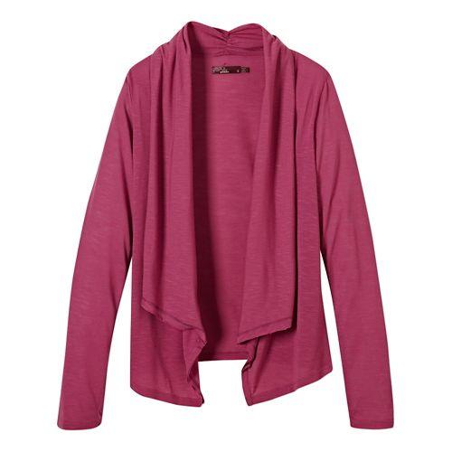 Womens Prana Blakely Wrap Long Sleeve Sweater Non-Technical Tops - Vivid Viola S