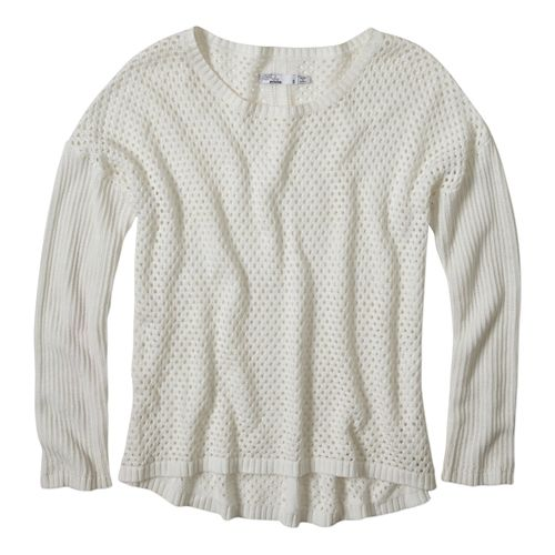 Womens Prana Parker Sweater Long Sleeve Sweater Non-Technical Tops - White L