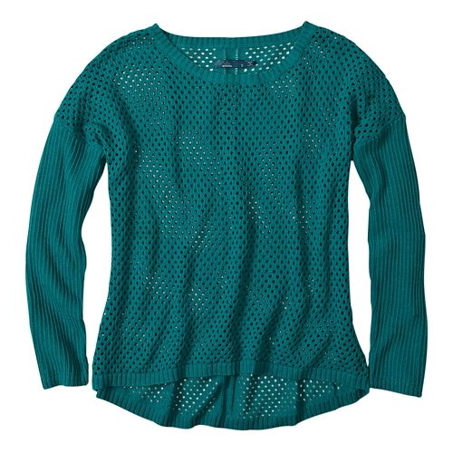 Womens Prana Parker Sweater Long Sleeve Sweater Non-Technical Tops - Sea Green XXL