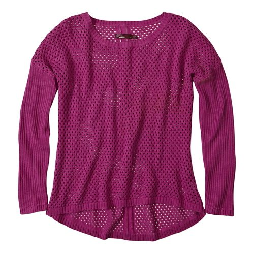 Womens Prana Parker Sweater Long Sleeve Sweater Non-Technical Tops - Vivid Viola XS
