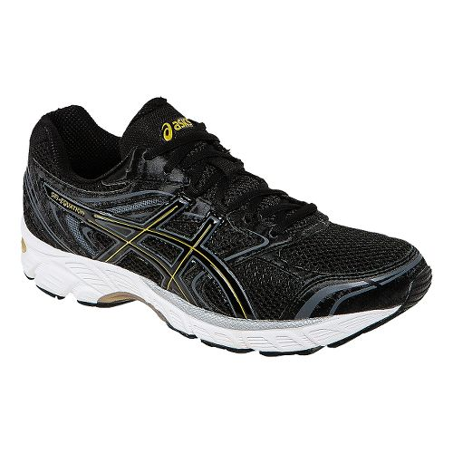 Mens ASICS GEL-Equation 8 Running Shoe - Black/Gold 11.5