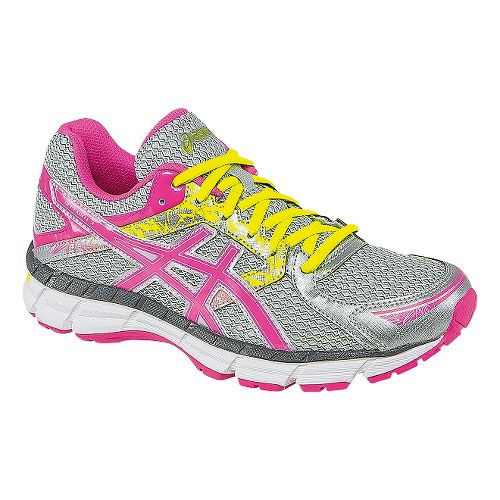 Womens ASICS GEL-Excite 3 Running Shoe - Silver/Pink 7.5