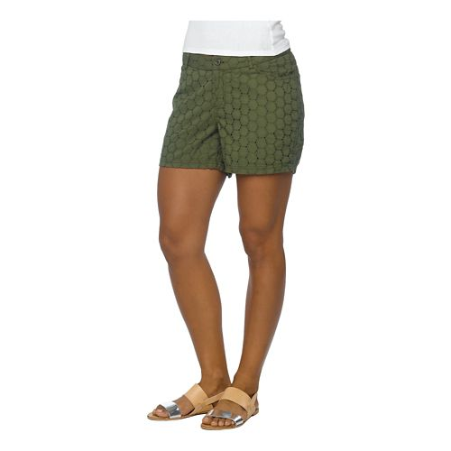 Womens Prana Michelle Unlined Shorts - Ponderosa 12