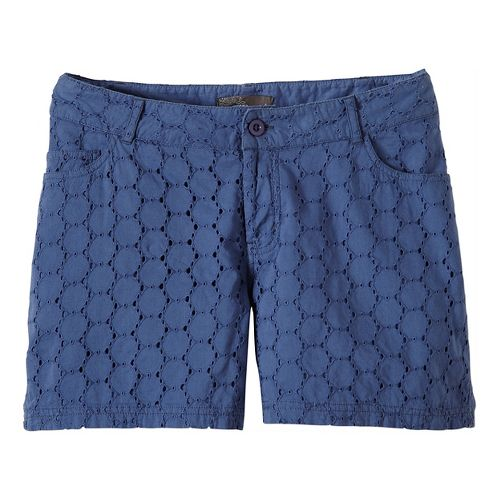 Womens Prana Michelle Unlined Shorts - Bijou Blue 4