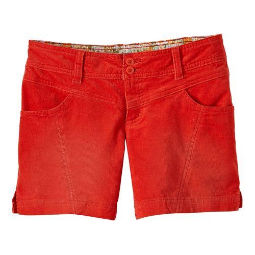 Womens Prana Lori Unlined Shorts - Fireball 8
