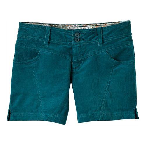 Womens Prana Lori Unlined Shorts - True Teal 10