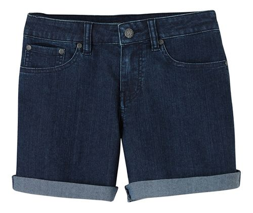 Womens Prana Kara Denim Unlined Shorts - Indigo 14