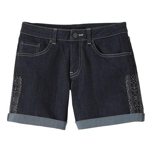 Womens Prana Kara Denim Unlined Shorts - Denim Aztec OS