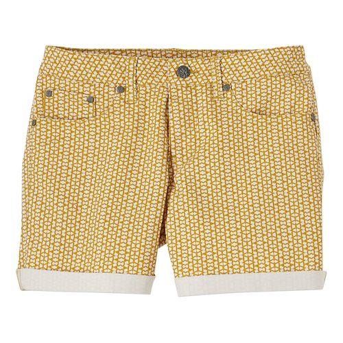 Womens Prana Kara Denim Unlined Shorts - Marigold Mixer 10