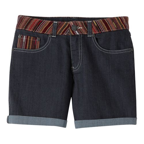 Womens Prana Kara Denim Unlined Shorts - Multi 2