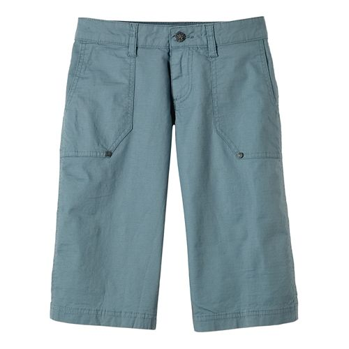 Womens Prana Larissa Knicker Unlined Shorts - Smoky Blue 14