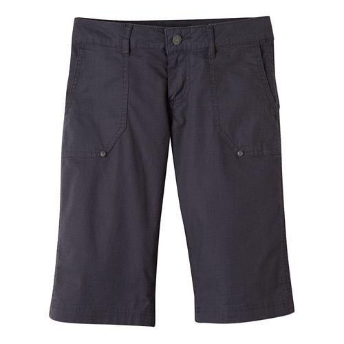 Womens Prana Larissa Knicker Unlined Shorts - Coal 10