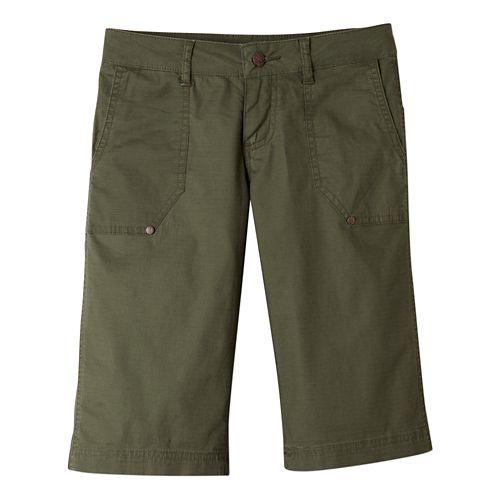 Womens Prana Larissa Knicker Unlined Shorts - Cargo Green 10