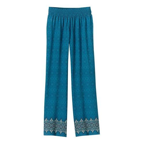 Womens Prana Isadora Full Length Pants - Mosaic Blue L