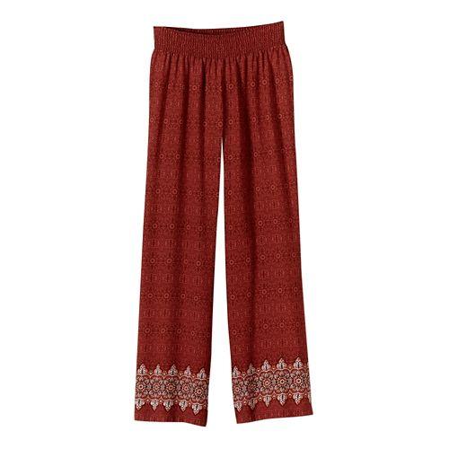 Womens Prana Isadora Full Length Pants - Tomato L