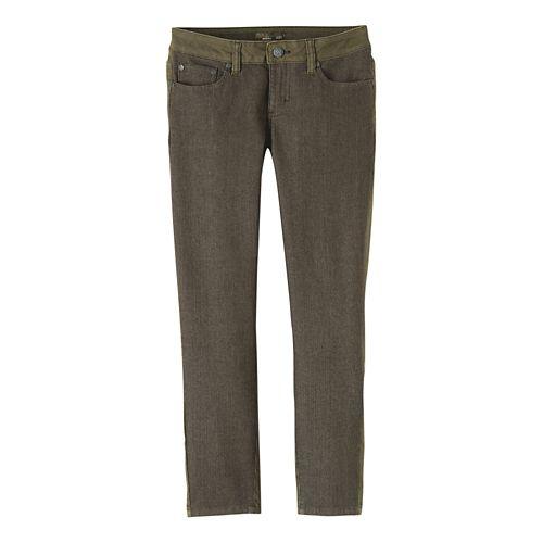 Womens Prana Jett Capris Pants - Cargo Green 10