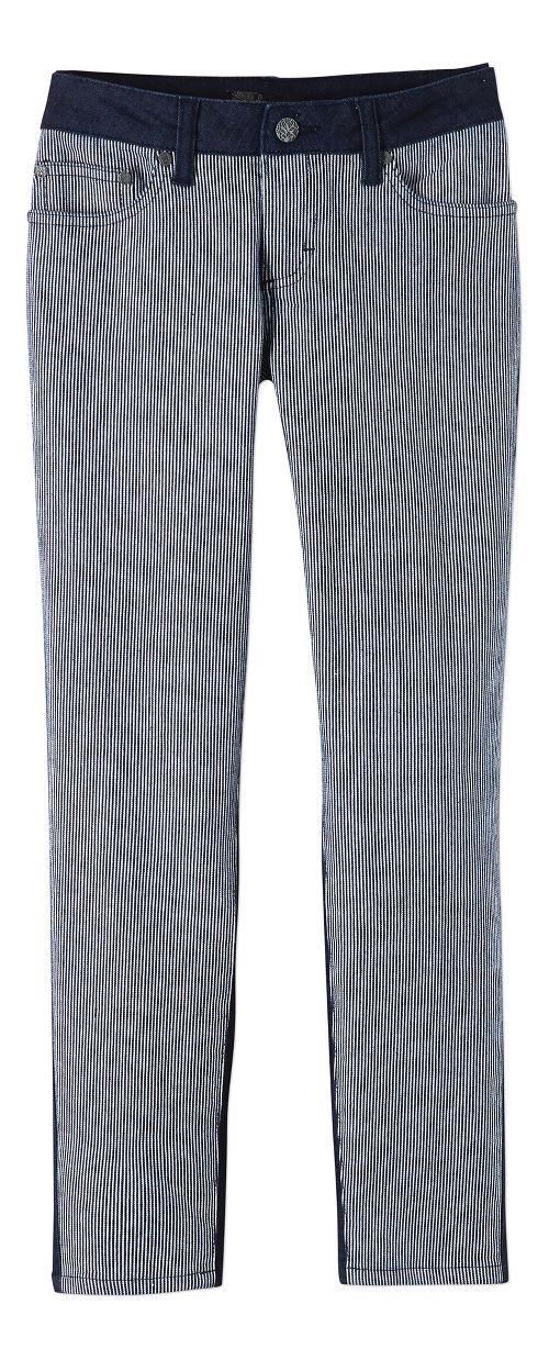 Womens Prana Jett Capris Pants - Indigo Stripe 10
