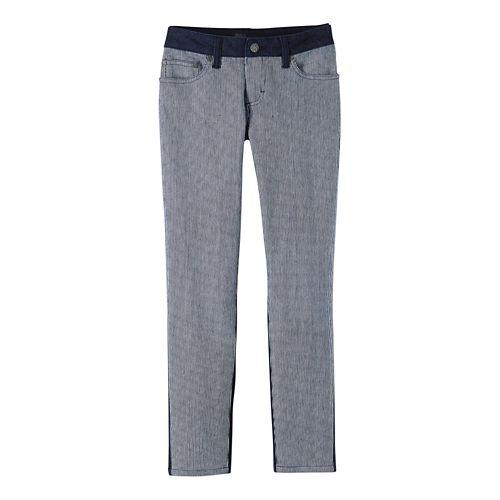 Womens Prana Jett Capris Pants - Indigo Stripe 4